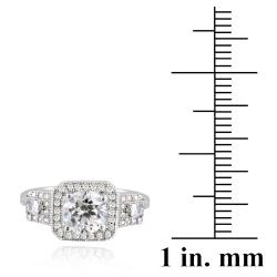 Icz Stonez Sterling Silver Cubic Zirconia Three Stone Engagement Ring (2 1/2ct TGW)