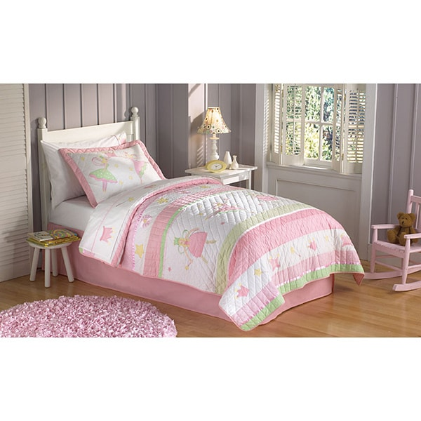 Fairy Ballerina Applique 3-piece Quilt Set