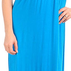 Stanzino Women's Turquoise V-neck Long Dress