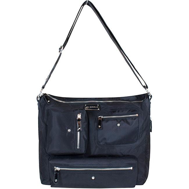 Amy Michelle Iris Black Twill Diaper Bag