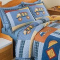 Construction Zone Applique Embellished 3-piece Quilt Set