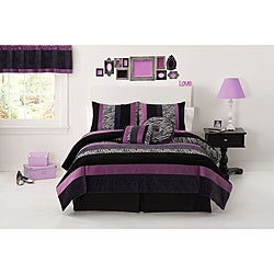 Posh Purple 3-piece Comforter Set