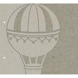 "Die-Cut Grey Chipboard Album 8""X8""-Hot Air Balloon"