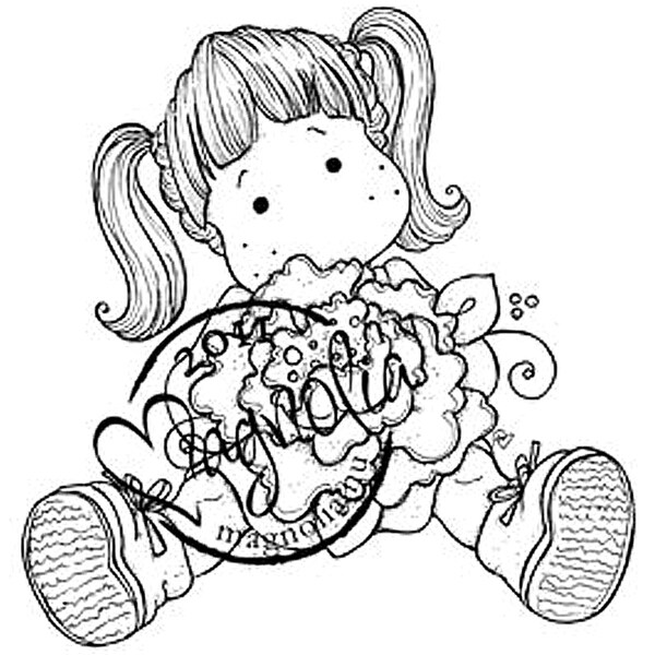 Sweet Crazy Love Cling Stamp-Tilda With Peony Tails
