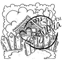 Sweet Crazy Love Cling Stamp-Welcome To A Lovely Home
