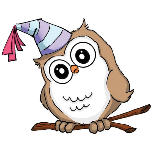Art Impressions Hoot! Cling Rubber Stamp-Birthday Whoot
