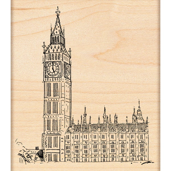 "Penny Black Rubber Stamp 3.5""X4""-Houses Of Parliament"
