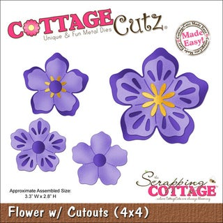 """CottageCutz Die 4""""X4""""-Flower With Cut-Outs Made Easy"""