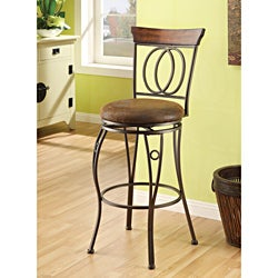 Swivel Brown Bar Stool (Set of 2)