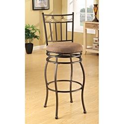 Swivel Beige Bar Chair (Set of 2)