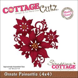 "CottageCutz Die 4""X4""-Ornate Poinsettia Made Easy"