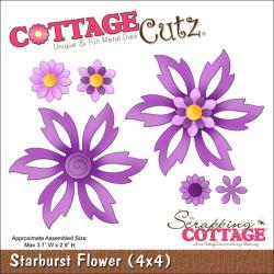 "CottageCutz Die 4""X4""-Starburst Flower"