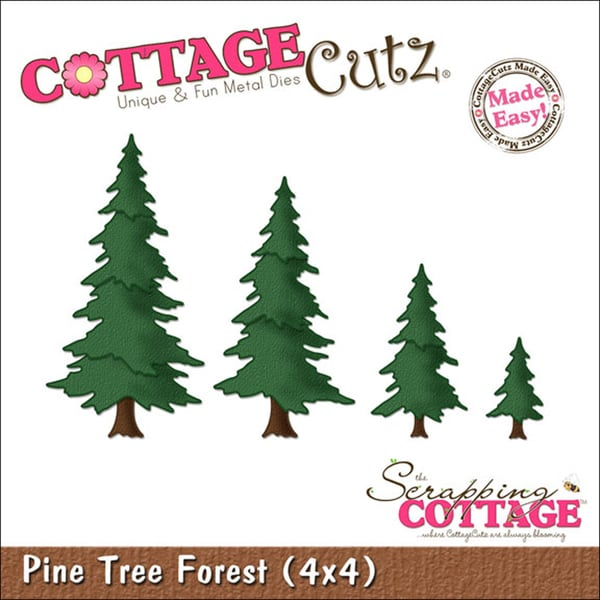 "CottageCutz Die 4""X4""-Tree Forest Made Easy"
