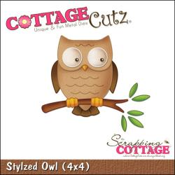 "CottageCutz Die 4""X4""-Stylized Owl"