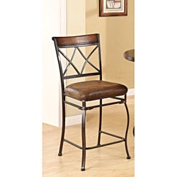Tavio Saddle Brown Counter Height Chair (Set of 2)