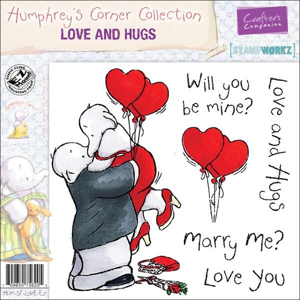 "Humphrey's Corner EZMount Cling Stamp Set 4.75""x4.75""-Love And Hugs"