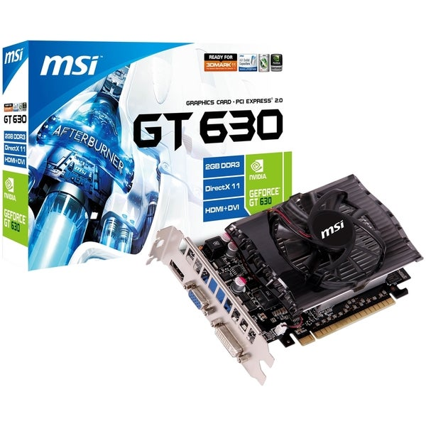 MSI N630GT-MD2GD3 GeForce GT 630 Graphic Card - 810 MHz Core - 2 GB D