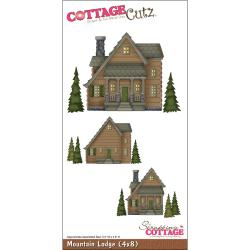 "CottageCutz Die 4""X8""-Mountain Lodge"