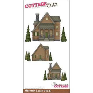 """CottageCutz Die 4""""X8""""-Mountain Lodge"""