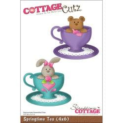 "CottageCutz Die 4""X6""-Springtime Tea"