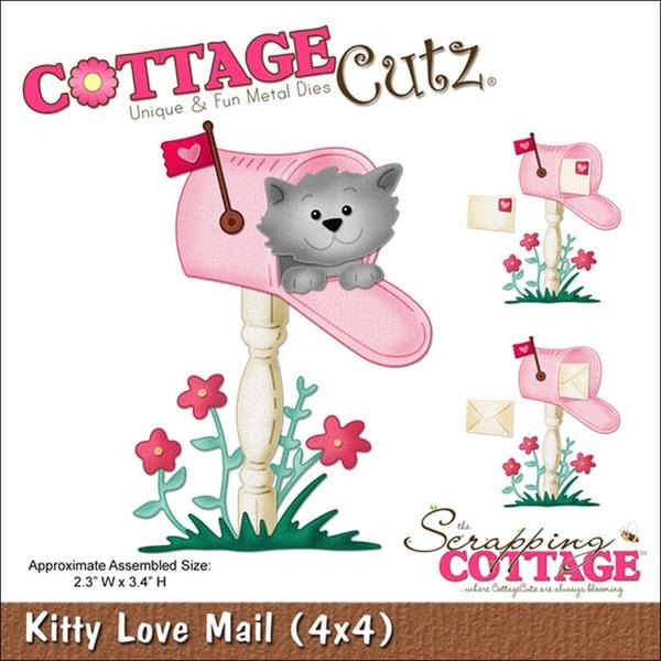 """CottageCutz Die 4""""X4""""-Kitty Love Mail"""