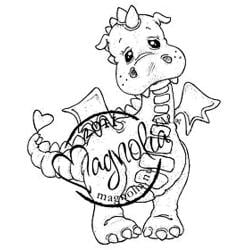Princes & Princesses Cling Stamp-Lilyrose The Dragon