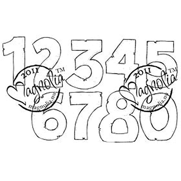 Princes & Princesses Cling Stamp-Numbers