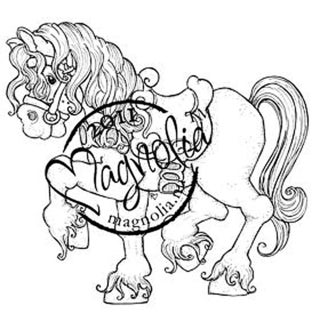 Princes & Princesses Cling Stamp-Tilda's Princess Horse