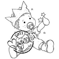 Princes & Princesses Cling Stamp-Baby Edwin