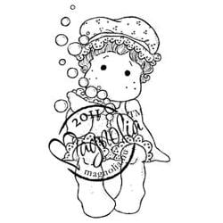 Princes & Princesses Cling Stamp-Tilda With Bathcup