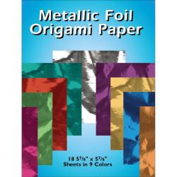 Metallic Foil Origami Paper- 18/Pkg