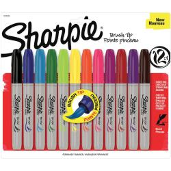 Sharpie Brush Tip Markers 12/Pkg