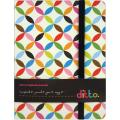Ditto Mini Scrapbook Journal 2/Pkg-Black & White Multi