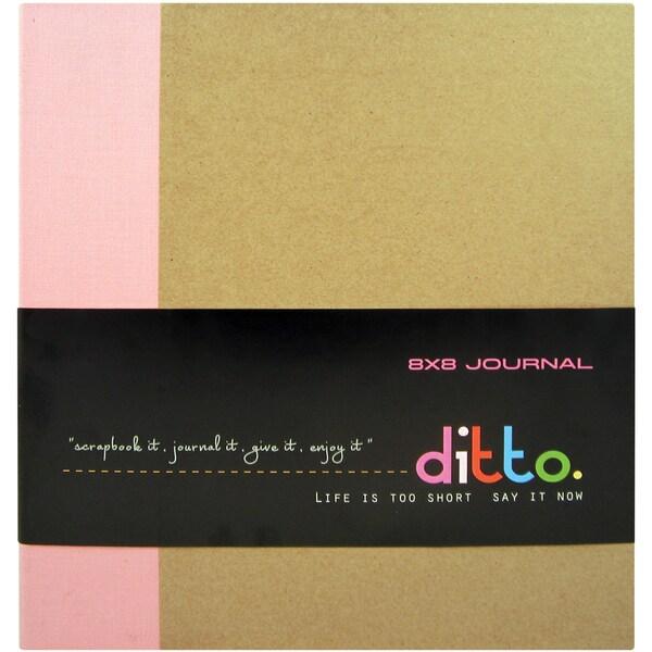 "Ditto Ring Chipboard Journal 8""X8""-Fuchsia"