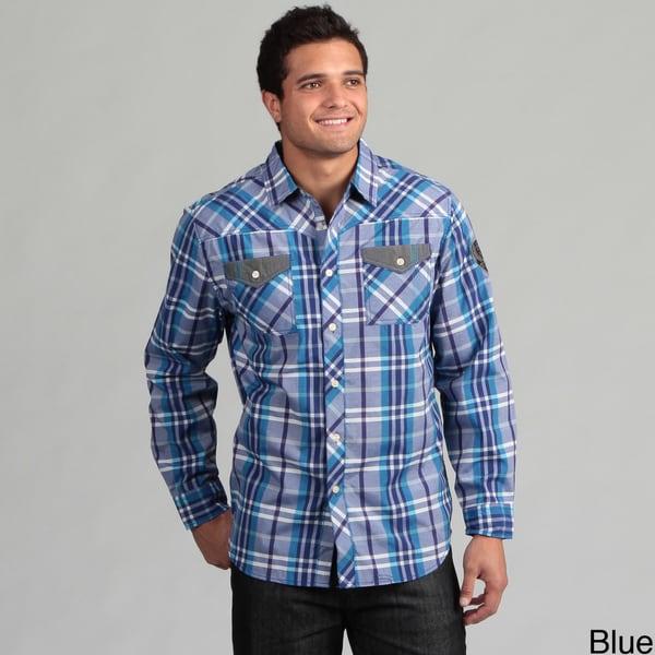 MO7 Men's Plaid Woven Shirt