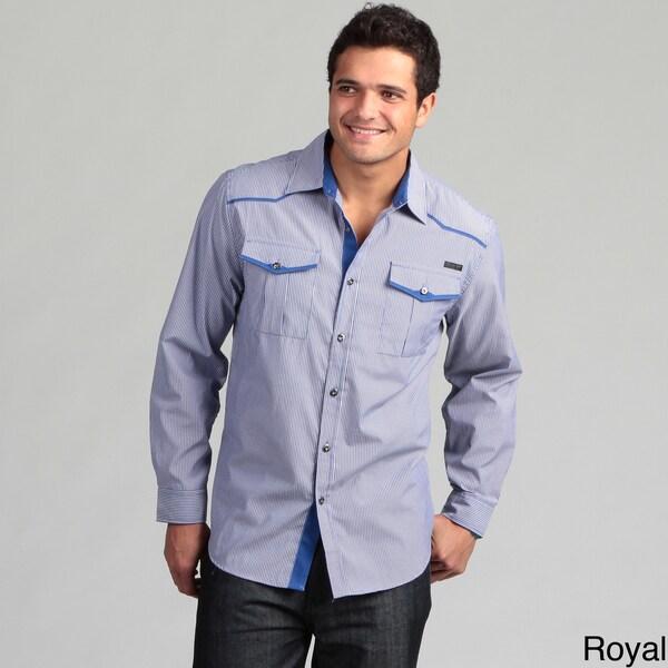 MO7 Men's Striped Woven Shirt