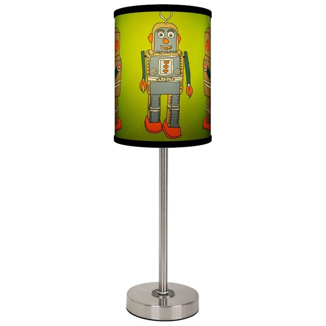 Lamp-In-A-Box New Robot Lamp with Brushed Nickel Base
