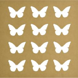 """Beyond The Page MDF Silhouette Wall Art 12""""X12"""" Frame-Butterfly 2.5""""X2"""" Cut-Out Openings"""