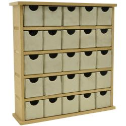 """Beyond The Page MDF Mini Treasure Chest/25 Chip Drawers-2.25""""X9""""X9.75"""" (60mm X 230mm X 250mm)"""