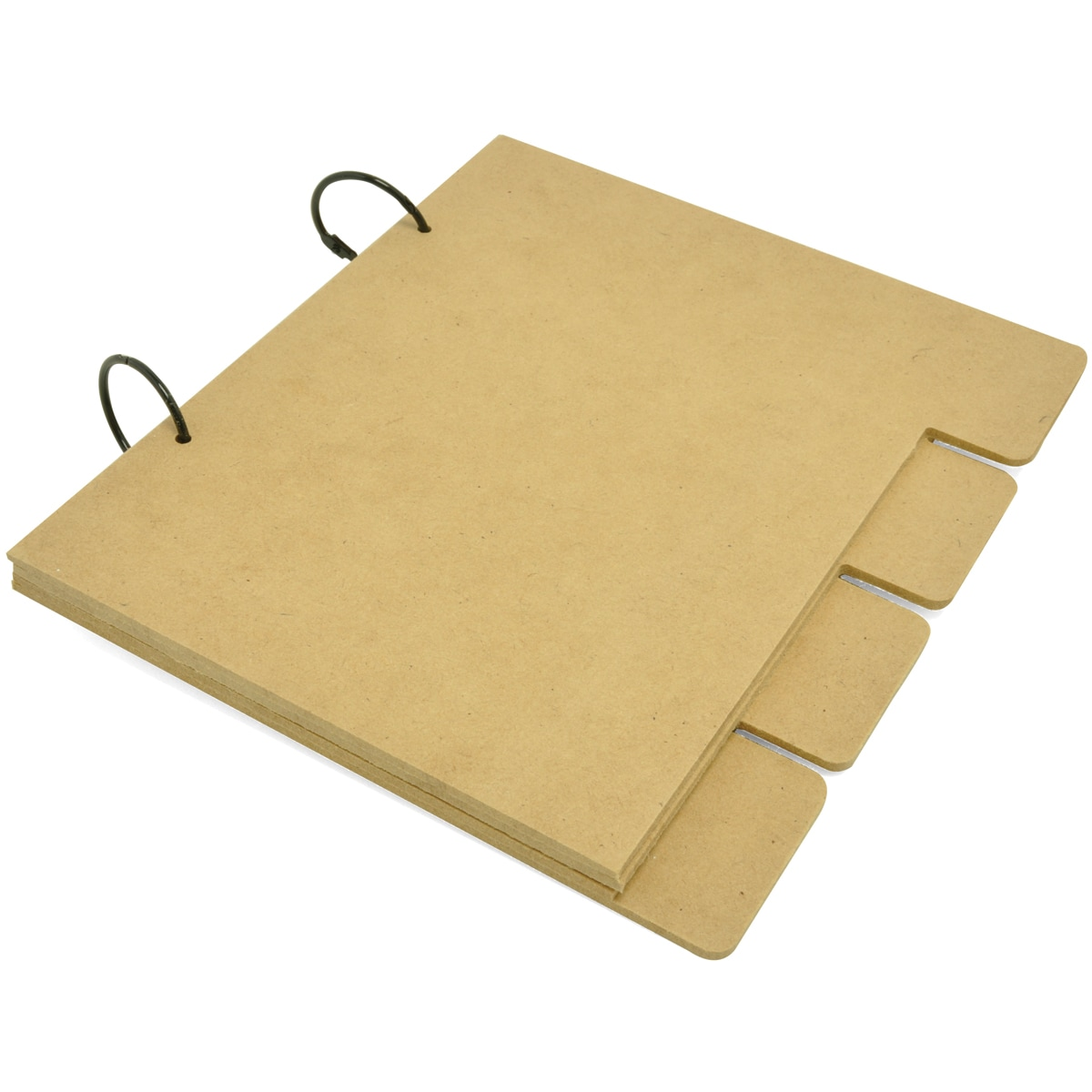 """Beyond The Page MDF Medium Tabbed Album-4 Tabbed MDF Pages 8""""X7""""X.5"""""""