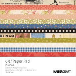 "Miss Match Paper Pad 6.5""X6.5"" 40 Sheets"