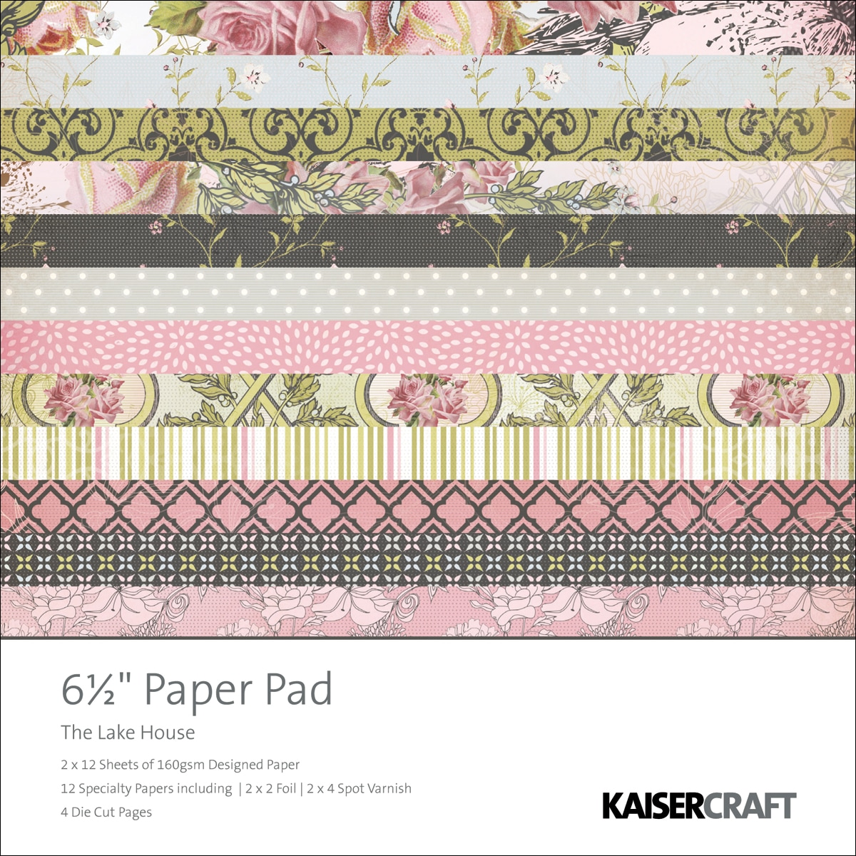 "The Lakehouse Paper Pad 6.5""X6.5"" 40 Sheets"