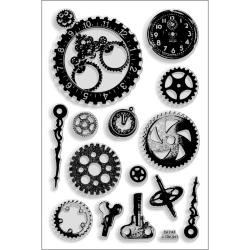 "Stampendous Perfectly Clear Stamps 4""X6"" Sheet-Steampunk Gears"