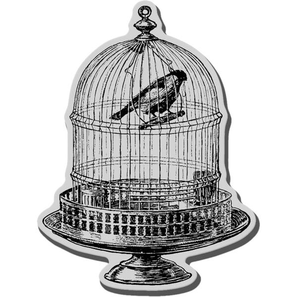 Stampendous Cling Rubber Stamp-Vintage Birdcage