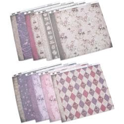 "High Tea Double-Sided Paper Assortment 12""X12"" 16 Sheets-2 Each Of 8 Designs"