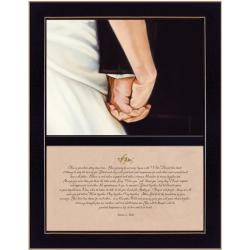 'I Do' 10.25 x 14-inch Black Framed Print