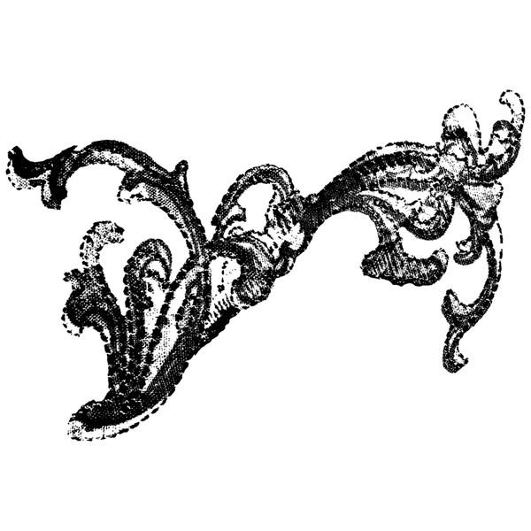 Donna Salazar Cling Stamp-Swirly Doos