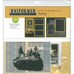 "U.S. Army 2 Page Layout 12""X12"""