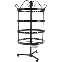4 Tier Round Metal Spinner Earring Rack 6.5