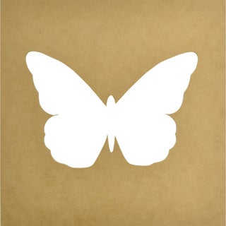 """Beyond The Page MDF Silhouette Wall Art 12""""X12""""-Large Butterfly 8.5""""X6"""" Shape"""